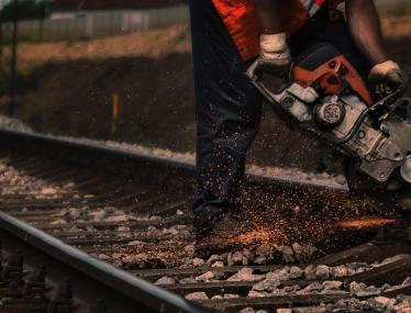 maintenance on railway line