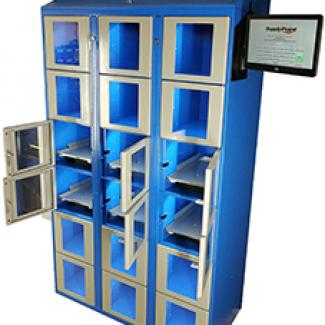 Locker with weigh scales